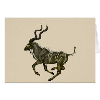 Galloping kudu card