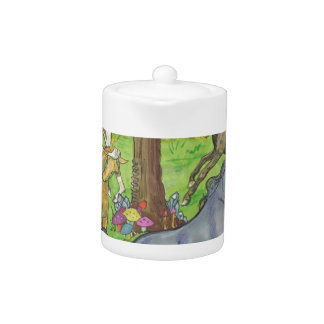 Galloping Mustang Horses in Forest Trees Ponies