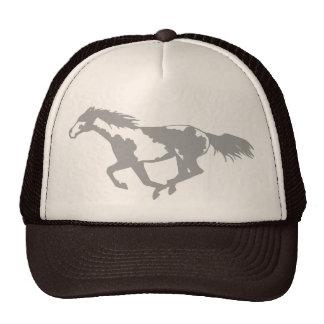 Galloping Paint Horse Cap