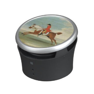 Galloping Racehorse and mounted Jockey in Red (oil Bluetooth Speaker