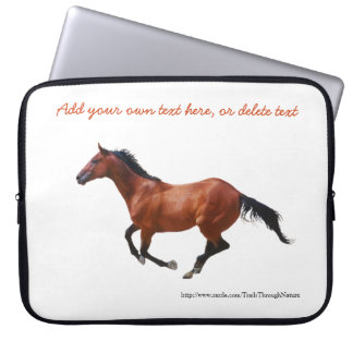 Galloping Thoroughbred Horse Laptop Sleeve