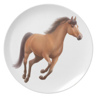 Galloping Thoroughbred Horse Plate