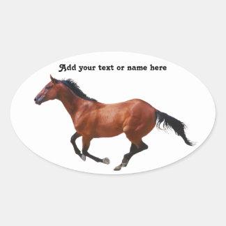 Galloping Thoroughbred Sticker