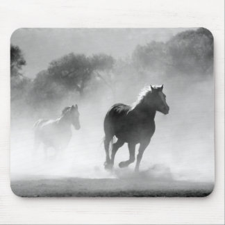 Galloping Wild Horse Print Mouse Pad