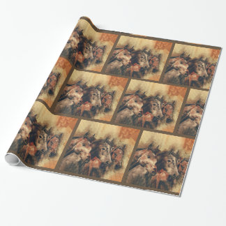 Galloping Wild Mustang Horses Wrapping Paper