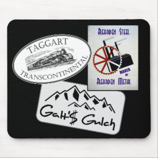 """""""Galt's Gulch"""", """"Taggart Transco..."""", """"Rearden..."""" Mouse Pad"""