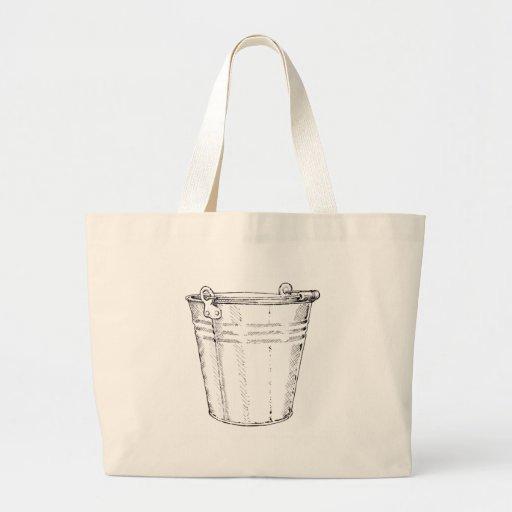 Galvanised Pail Jumbo Tote Bag