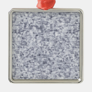 Galvanized Metal Tin Pattern Silver-Colored Square Decoration