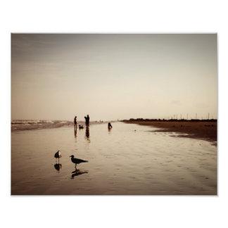 Galveston Beachlife Photographic Print