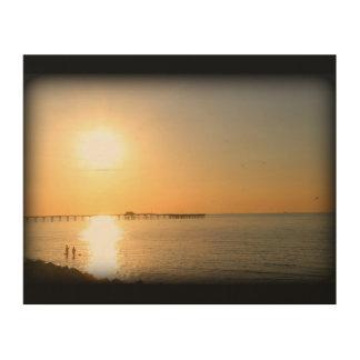 Galveston Island Sunrise Wood Wall Art