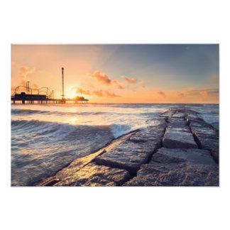 Galveston Pier Sunrise Photo Print