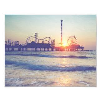 Galveston Sunrise Silhouette Photo