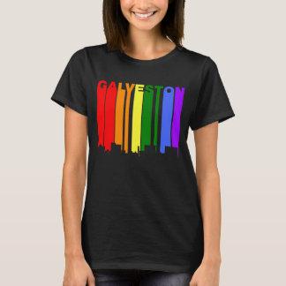 Galveston Texas Gay Pride Rainbow Skyline T-Shirt