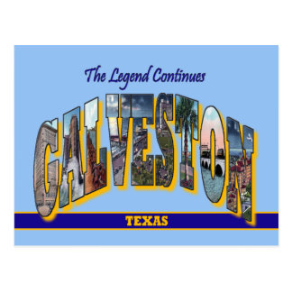 GALVESTON Texas Large Letter Postcard