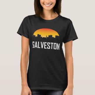 Galveston Texas Sunset Skyline T-Shirt