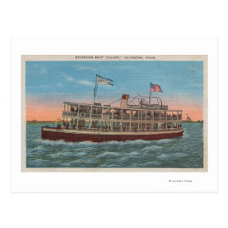 Galveston, TX - View of the Galvez Postcard