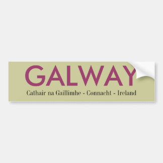 Galway Ireland Bumper Sticker