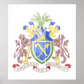 Gambia Coat Of Arms Print