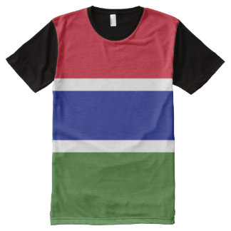 Gambia Flag All-Over Print T-Shirt