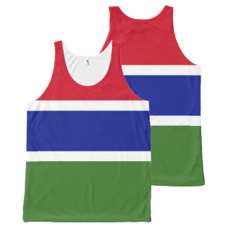 Gambia Flag All-Over Print Tank Top