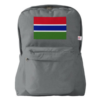 Gambia Flag Backpack