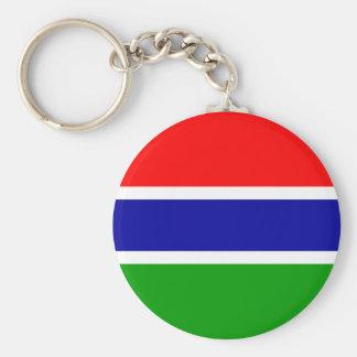 Gambia Flag Basic Round Button Key Ring