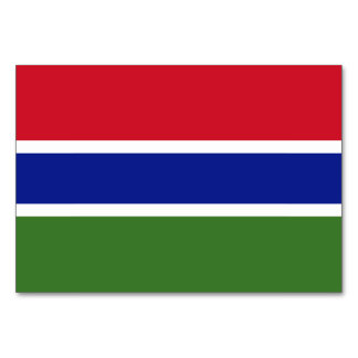 Gambia Flag Card