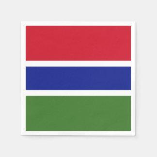 Gambia Flag Disposable Napkins