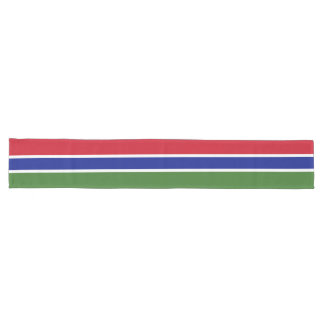 Gambia Flag Long Table Runner