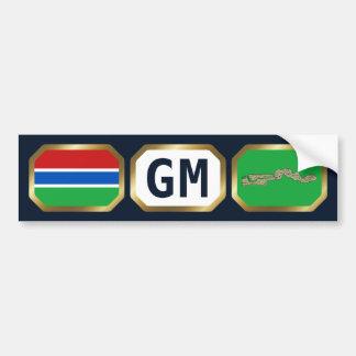 Gambia Flag Map Code Bumper Sticker