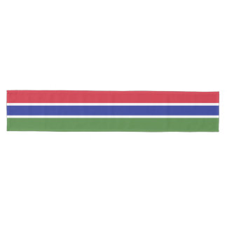 Gambia Flag Medium Table Runner