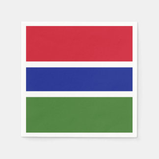 Gambia Flag Paper Napkins