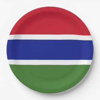 Gambia Flag Paper Plate