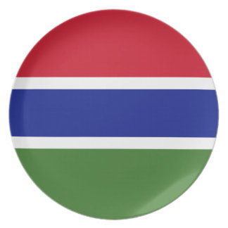 Gambia Flag Plate