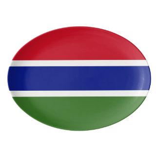 Gambia Flag Porcelain Serving Platter