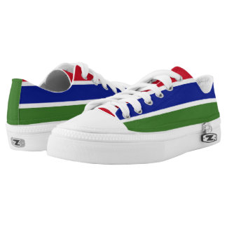 Gambia Flag Printed Shoes