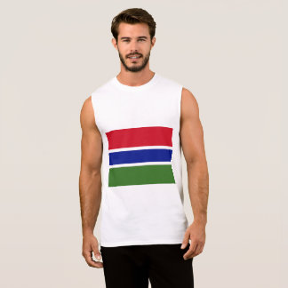 Gambia Flag Sleeveless Shirt