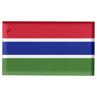 Gambia Flag Table Card Holder