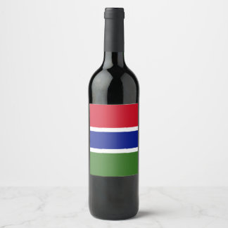 Gambia Flag Wine Label