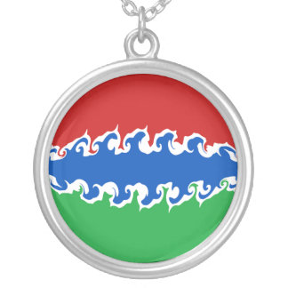 Gambia Gnarly Flag Custom Necklace