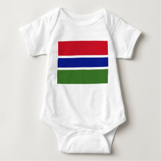 Gambia National World Flag Baby Bodysuit