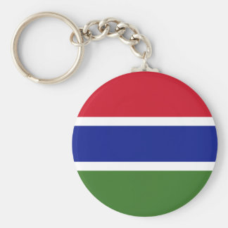Gambia National World Flag Key Ring