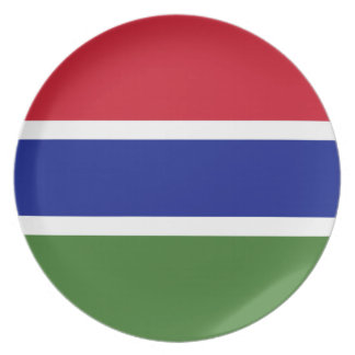 Gambia National World Flag Plate
