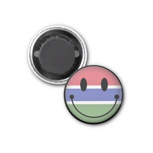 Gambia Smiley Refrigerator Magnet