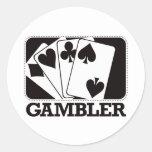 Gambler - Black Sticker
