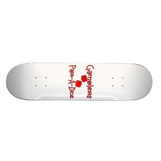 Gamblers Pair A Dice Skate Board