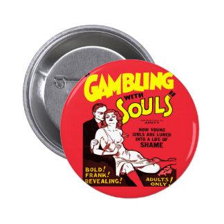 Gambling 6 Cm Round Badge