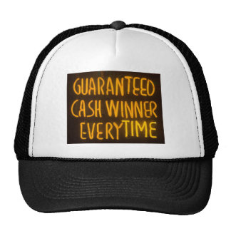 Gambling Casino Cash Winner Sign Neon Lights Cap