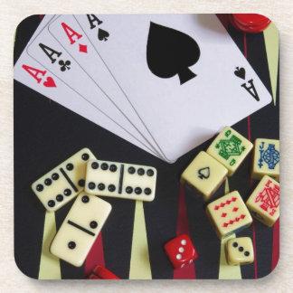 Gambling casino gaming pieces coaster