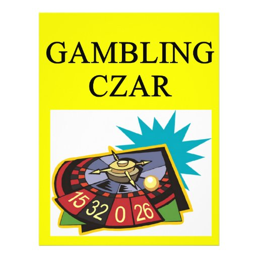 GAMBLING czar joke Full Color Flyer